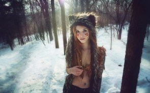 beargirl in the woods