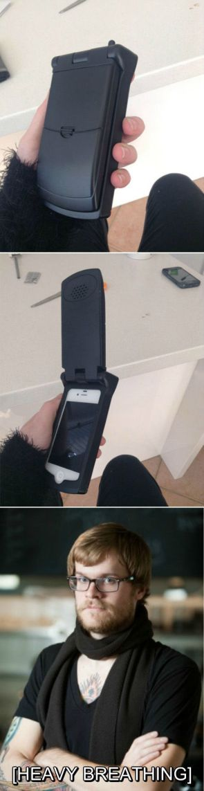 iphone flip phone case