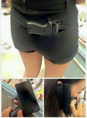 pocket phone gun