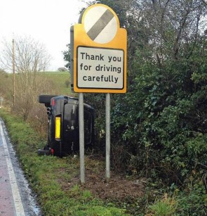 thank you for driving slowly