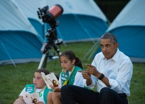 Barry at the first Annual White House Campout