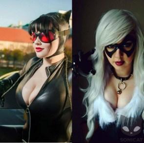 Catwoman v Black Cat by SoniCat_