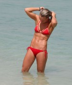 Chloe Madeley In A Red Bikini