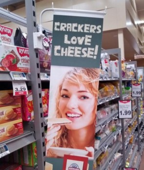 Crackers love cheese