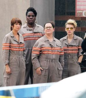 Female Ghost Busters looking frumpy