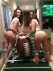 Football party asses