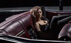 Haley Atwell in a convertable
