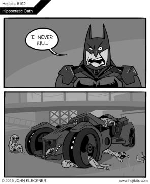 Pippocratic oath of batman