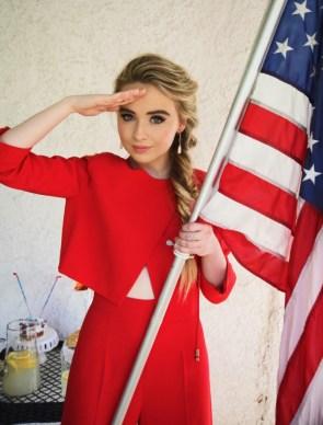 Sabrina Carpenter is patriotic