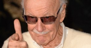 Stan Lee has a finger gun