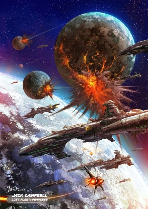 The Alliance Fleet under Black Jack Geary – Bombarding the Syndic planet of Sutrah