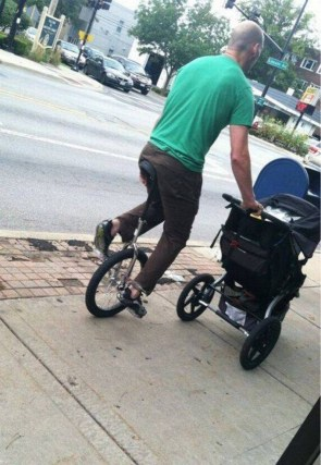 Unicycle baby rider