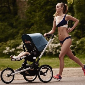 Very Fit Running Mom