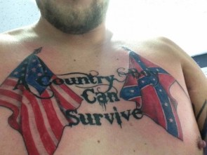 a country boy can survive a chest tattoo