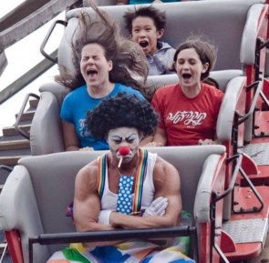 angry clown ride
