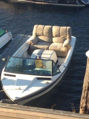 luxurious boat seats