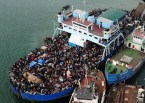 overloaded boat
