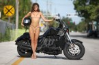 Jehane Gigi enjoys her motorcycle