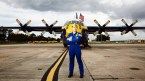 Katie Higgins of the Blue Angels