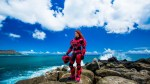 Red Halo cosplay on the beach