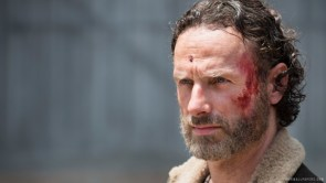 Rick has a cut on his forehead