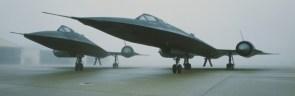 SR-71 in the mist
