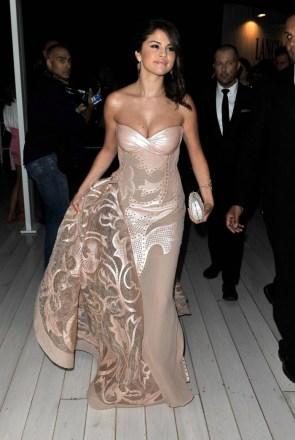Selena in a stunning dress