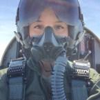Female pilot selfie