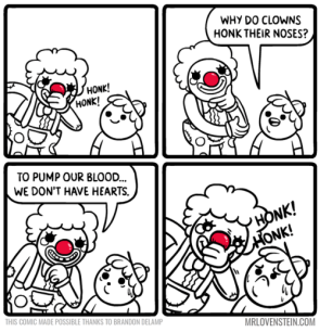 why do clowns honk their noses
