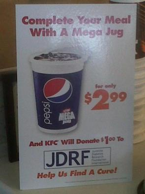 Complete your meal with a mega jug – find a cure