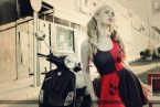 Harley Quinn on a Vespa
