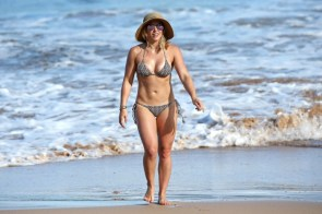 Hilary Duff on the beach