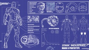 Iron Man blue prints