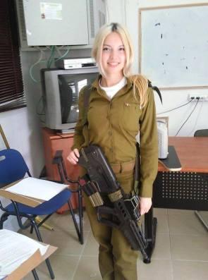 Israeli Blonde with a gun