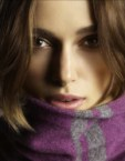Keira Knightley in a scarf