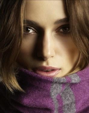 Keira Knightley in a scarf