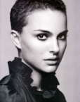 Natalie Portman with short hairs