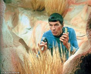 Spock in the bushes