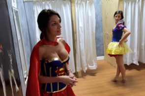 Supergirl and Snow White costume test