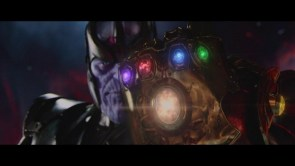 Thanos and his hilariously huge gauntlet