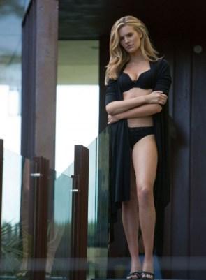 blonde on the walkway