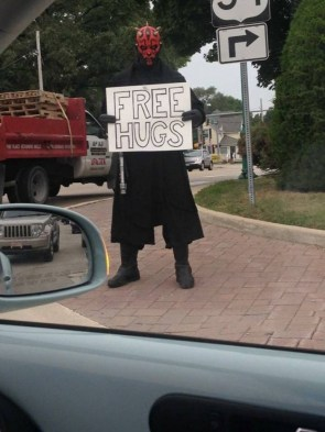 darth maul has free hugs