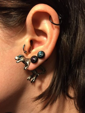 dinosaur ear ring