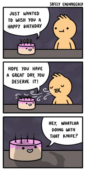 happy birthday cutting