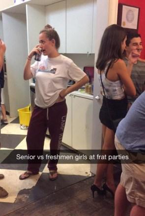 senior vs freshman