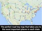 the perfect road trip map