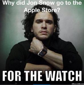 why did jon snow go to the apple store
