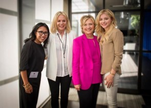 Chloe Moretz and Hillary Clinton