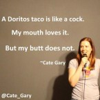 Doritos taco is like a cock