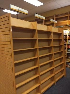 Empty shelves of inspiration